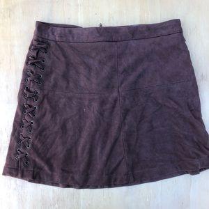 Women's brown felt skirt